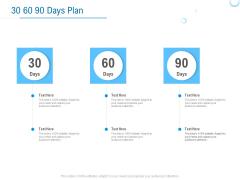 Enterprise Thesis 30 60 90 Days Plan Ppt Layouts Show PDF