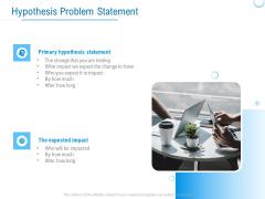 Enterprise Thesis Hypothesis Problem Statement Ppt Pictures Objects PDF