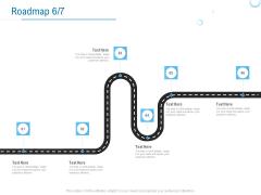 Enterprise Thesis Roadmap Six Stage Process Ppt Slides Deck PDF