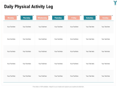 Enterprise Wellbeing Daily Physical Activity Log Structure PDF