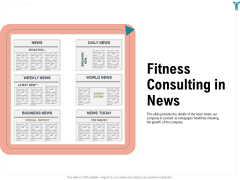 Enterprise Wellbeing Fitness Consulting In News Template PDF