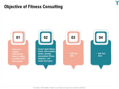 Enterprise Wellbeing Objective Of Fitness Consulting Summary PDF
