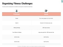 Enterprise Wellbeing Organizing Fitness Challenges Infographics PDF