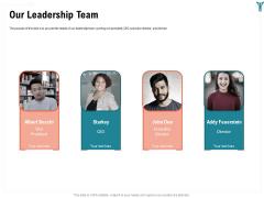 Enterprise Wellbeing Our Leadership Team Clipart PDF