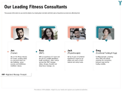 Enterprise Wellbeing Our Leading Fitness Consultants Sample PDF