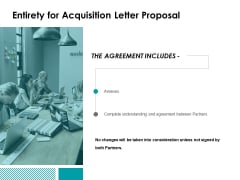 Entirety For Acquisition Letter Proposal Ppt Powerpoint Presentation Styles Templates