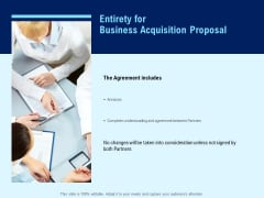 Entirety For Business Acquisition Proposal Ppt PowerPoint Presentation Show Example