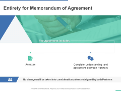 Entirety For Memorandum Of Agreement Ppt PowerPoint Presentation Inspiration Graphics Pictures