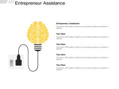 Entrepreneur Assistance Ppt Powerpoint Presentation Pictures Professional Cpb