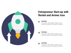 Entrepreneur Start Up With Rocket And Arrows Icon Ppt PowerPoint Presentation File Tips PDF