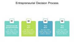 Entrepreneurial Decision Process Ppt PowerPoint Presentation Good Cpb