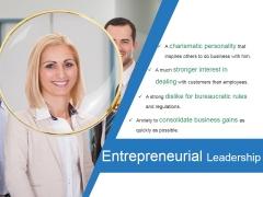 Entrepreneurial Leadership Ppt PowerPoint Presentation Deck