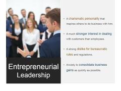 Entrepreneurial Leadership Ppt PowerPoint Presentation Inspiration