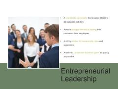 Entrepreneurial Leadership Ppt PowerPoint Presentation Tips