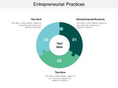 Entrepreneurial Practices Ppt Powerpoint Presentation Summary Themes Cpb