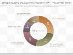 Entrepreneurship Development Programme Ppt Powerpoint Topics
