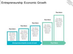 Entrepreneurship Economic Growth Ppt PowerPoint Presentation Infographics Shapes Cpb