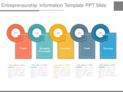 Entrepreneurship Information Template Ppt Slide