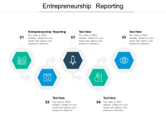 Entrepreneurship Reporting Ppt PowerPoint Presentation File Pictures Cpb Pdf