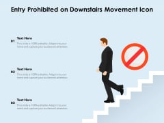 Entry Prohibited On Downstairs Movement Icon Ppt PowerPoint Presentation Gallery Graphic Tips PDF