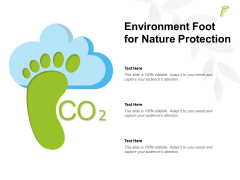 Environment Foot For Nature Protection Ppt PowerPoint Presentation Outline Icon