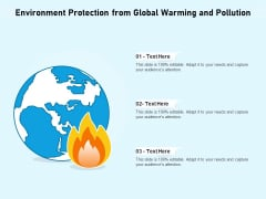 Environment Protection From Global Warming And Pollution Ppt PowerPoint Presentation Show Icon PDF