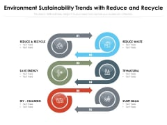 Environment Sustainability Trends With Reduce And Recycle Ppt PowerPoint Presentation File Graphics Download PDF