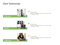 Environmental Friendly Technology Client Testimonials Portrait PDF