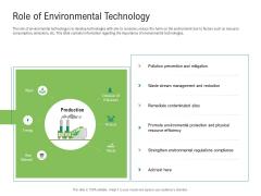 Environmental Friendly Technology Role Of Environmental Technology Formats PDF