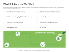 Environmental Friendly Technology What Solutions Do We Offer Demonstration PDF
