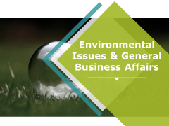 Environmental Issues And General Business Affairs Ppt PowerPoint Presentation Icon Background Images