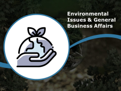 Environmental Issues And General Business Affairs Ppt PowerPoint Presentation Ideas Visual Aids