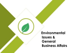 Environmental Issues And General Business Affairs Ppt PowerPoint Presentation Portfolio Gallery