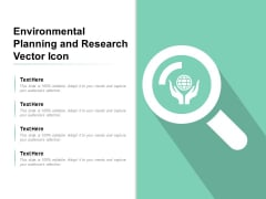 Environmental Planning And Research Vector Icon Ppt PowerPoint Presentation Inspiration Example