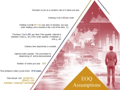 Eoq Assumptions Ppt PowerPoint Presentation Gallery Guidelines