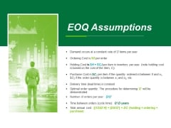 Eoq Assumptions Ppt PowerPoint Presentation Portfolio Smartart