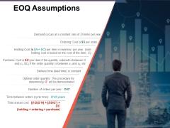 Eoq Assumptions Ppt PowerPoint Presentation Show Graphics Tutorials
