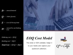 Eoq Cost Model Ppt PowerPoint Presentation Infographics Graphics Pictures