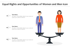 Equal Rights And Opportunities Of Women And Men Icon Ppt PowerPoint Presentation Icon Design Inspiration PDF
