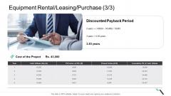 Equipment Rental Leasing Purchase Present Value Elements PDF