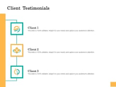 Equity Capital Funding Client Testimonials Ppt Background PDF