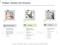 Equity Crowdfunding Pitch Deck Problem Solution And Outcome Ppt Professional Sample PDF