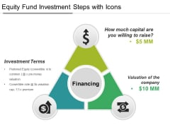 Equity Fund Investment Steps With Icons Ppt PowerPoint Presentation Layouts Templates