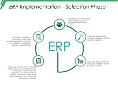 Erp Implementation Selection Phase Ppt PowerPoint Presentation Inspiration Ideas