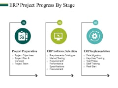 Erp Project Progress By Stage Ppt PowerPoint Presentation Model Styles