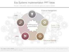 Erp Systems Implementation Ppt Ideas