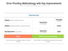Error Proofing Methodology With Key Improvements Ppt PowerPoint Presentation Outline Objects PDF