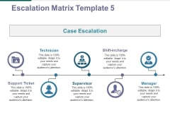 Escalation Matrix Template 5 Ppt PowerPoint Presentation Professional Tips