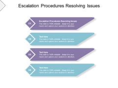 Escalation Procedures Resolving Issues Ppt PowerPoint Presentation Inspiration Templates Cpb Pdf