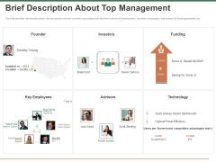 Escape Plan Venture Capitalist Brief Description About Top Management Ppt Gallery Format PDF